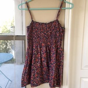 Forever 21 Floral Flowy Tank Top Blouse